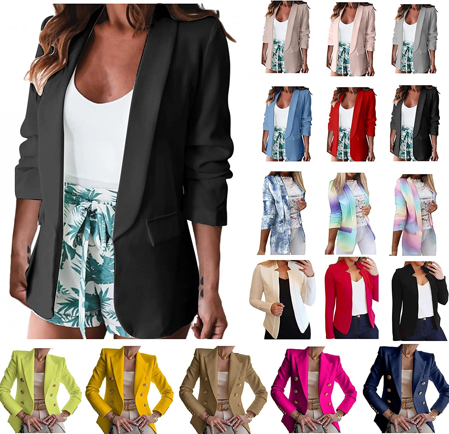 DOYIMBO Long Sleeve Blazer Jackets for Limited time trial price Casual Blo Women Ranking TOP3 Business