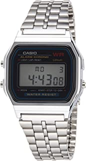 Casio A159WA-N1 Vintage Retro Silver Stainless Steel Digital Unisex Watch