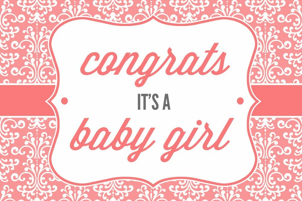 Congrats It's a Baby Girl 24x36 Dec free shipping Print Wall Giclee 35% OFF Gallery