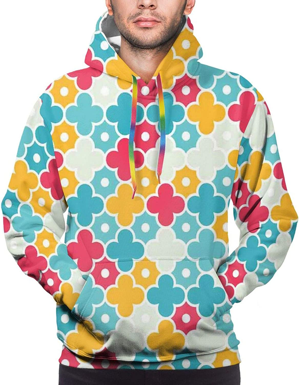Men's Hoodies Sweatshirts,Kids Children Kindergarten Concept of Nerdy Rabbits and Musical Instrument Icons