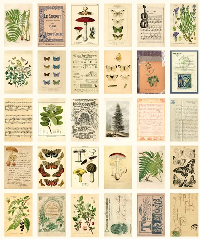 Forest Plants Wall Collage Kit, Aesthetic Room Decor Pictures, Cottagecore Indie Room Decor, Bedroom Posters For Teen Girls Boys, Dorm Trendy Wall Art