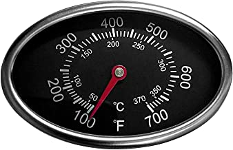Hongso Thermometer Gas Grill Heat Indicator Replacement for Grill Master Nexgrill 720-0697, 720-0737 Grill Replacement Parts, BBQ Grill Temperature for Nexgrill 720-0830H, 720-0888, TG549
