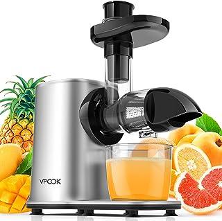 Extracteur de Jus VPCOK, Presse à Froid, Extracteur de Jus de Fruit et Légumes, Slow Juicer Silencieux, Extracteur à Jus d...