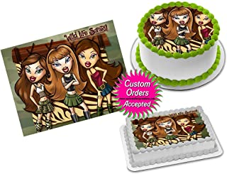 Bratz Edible Image Icing Frosting Sheet #6 Cake Cupcake Cookie Topper Sugar Sheet (1/4 Quarter Sheet - 8.5x11