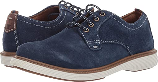 Navy Suede/White Sole