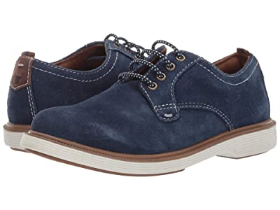 Florsheim Kids Supacush Plain Toe Ox, Jr. (Toddler/Little Kid/Big Kid) (Navy Suede/White Sole) Boy