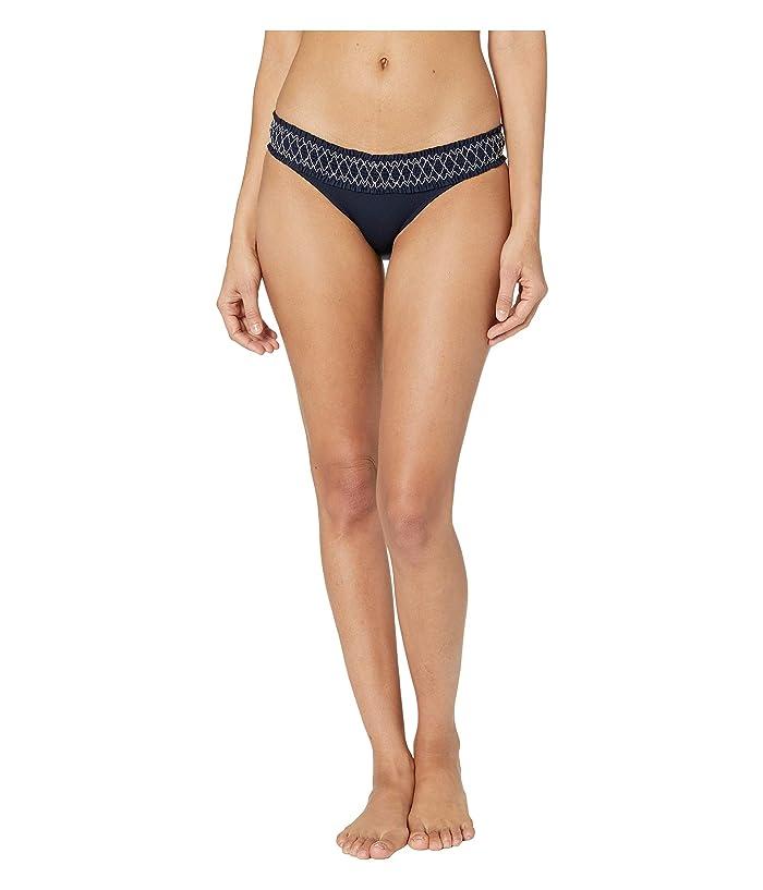 Heidi Klein Anguilla Smocked Hipster Bottoms (Navy) Women