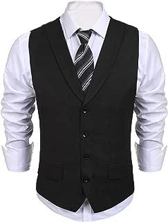Men's Business Suit Vest Slim Fit Dress Waistcoat Vests