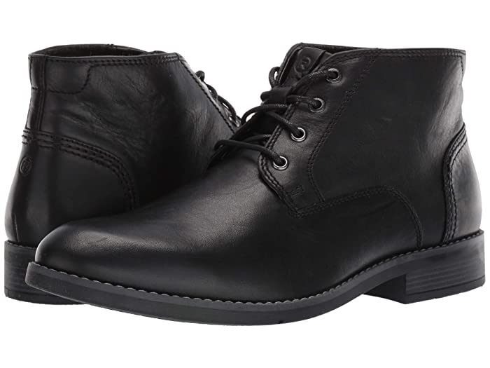 Steampunk Boots and Shoes for Men Rockport Colden Chukka Black Mens Shoes $79.95 AT vintagedancer.com