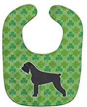 Caroline's Treasures BB6478BIB Shamrocks Baby Bib, Green Giant Schnauzer, Large