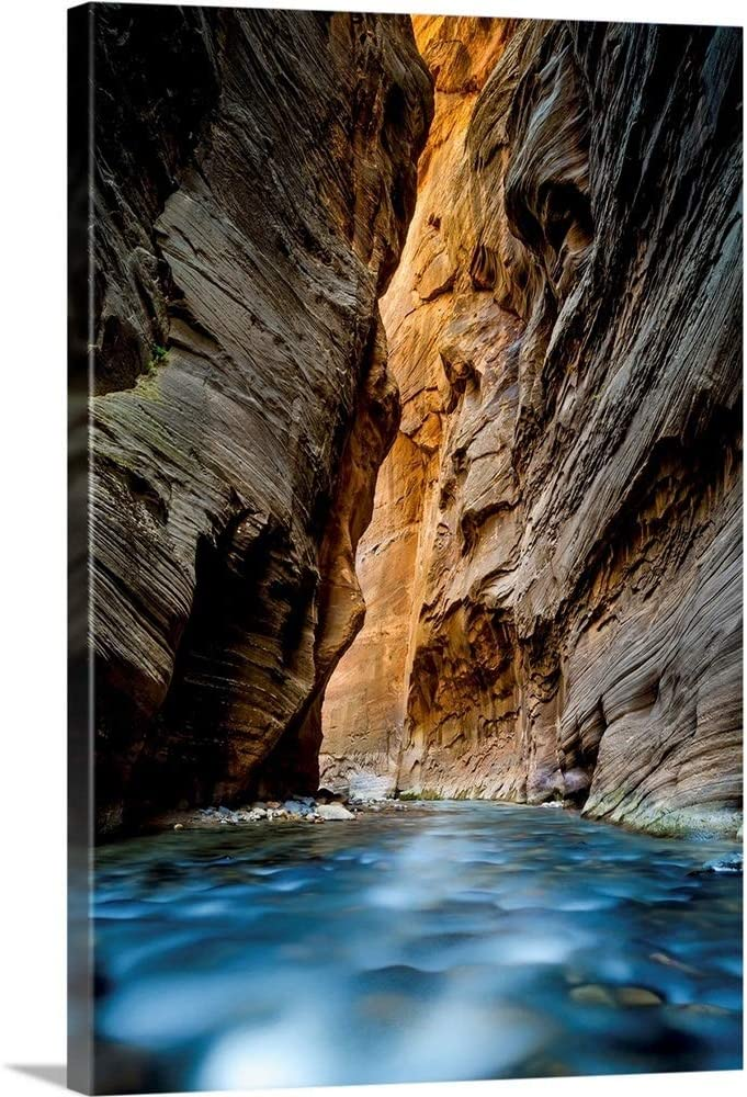The Narrows Zion National Rapid rise Park Utah Art Canvas Uta Sale special price Wall Print