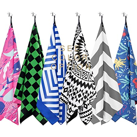 Travel,Swim,Pool HAPEE Microfiber Beach Towels Overlarge XL 63x35in for Sports Quick Dry Super Absorbent Lightweight