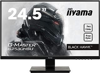iiyama G-MASTER Black Hawk G2530HSU-B1 62,23 cm (24,5 Zoll) Gaming Monitor (VGA, HDMI, DisplayPort, USB 2.0,  1ms Reaktionszeit, FreeSync) schwarz