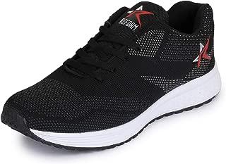 REFOAM Men's Black Mesh Running Sport Shoes