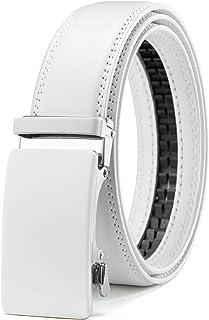 """Mens Belt, Chaoren Ratchet Belt Dress with 1 3/8"""" Genuine Leather, Slide Belt with Easier Adjustable Buckle, Trim to Fit"""
