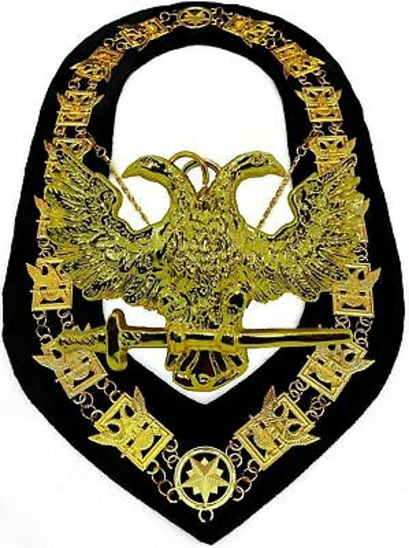 Masonic COLLAR Regalia 32 Degree WINGS UP SCOTTISH RITE