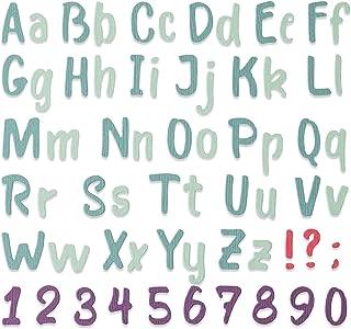 Sizzix 664491 Thinlits Matrice de decoupe Pinceau Gras Alphabet par Sophie Guilar Scrapbooking, Multicolor, Taille unique