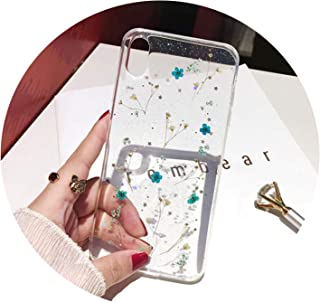 Dry Flowers Soft Transparent TPU for iPhone 6X6 S 7 7 Plus Phone Case for iPhone XR XS Max Cover,5,for iPhone X