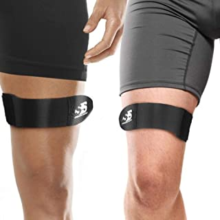 Best IT Band Strap for Men and Women - Iliotibial Band Syndrome Above or Below The Knee + Patella Stabilizer Straps. Leg + Thigh Compression Wrap Athletic Support Brace Neoprene IT Band Strap