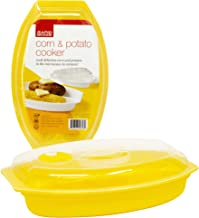 Rapid Corn & Potato Cooker   Microwave Fresh & Frozen Vegetables in Less Than 5 Minutes   Perfect for Dorm, Small Kitchen, or Office   Dishwasher-Safe, Microwaveable, BPA-Free
