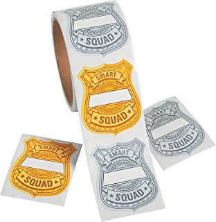 Fun Express - Learning Police Badge Labels - Stationery - Stickers - Stickers - Roll - 1 Piece