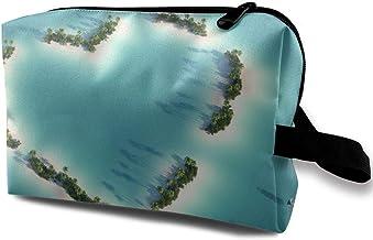 Women's Heart Love Shaped Romance Travel Hanging Toiletry Bag Portable Travel Kit Shaving Bathroom Storage Bag Waterproof Cosmetic Organize
