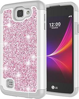 Sponsored Ad - LG Rebel LTE Case, LG Optimus Zone 3 Case, LG Spree Case, LG K4 Case for Girls, Jeylly Glitter Luxury Cryst...
