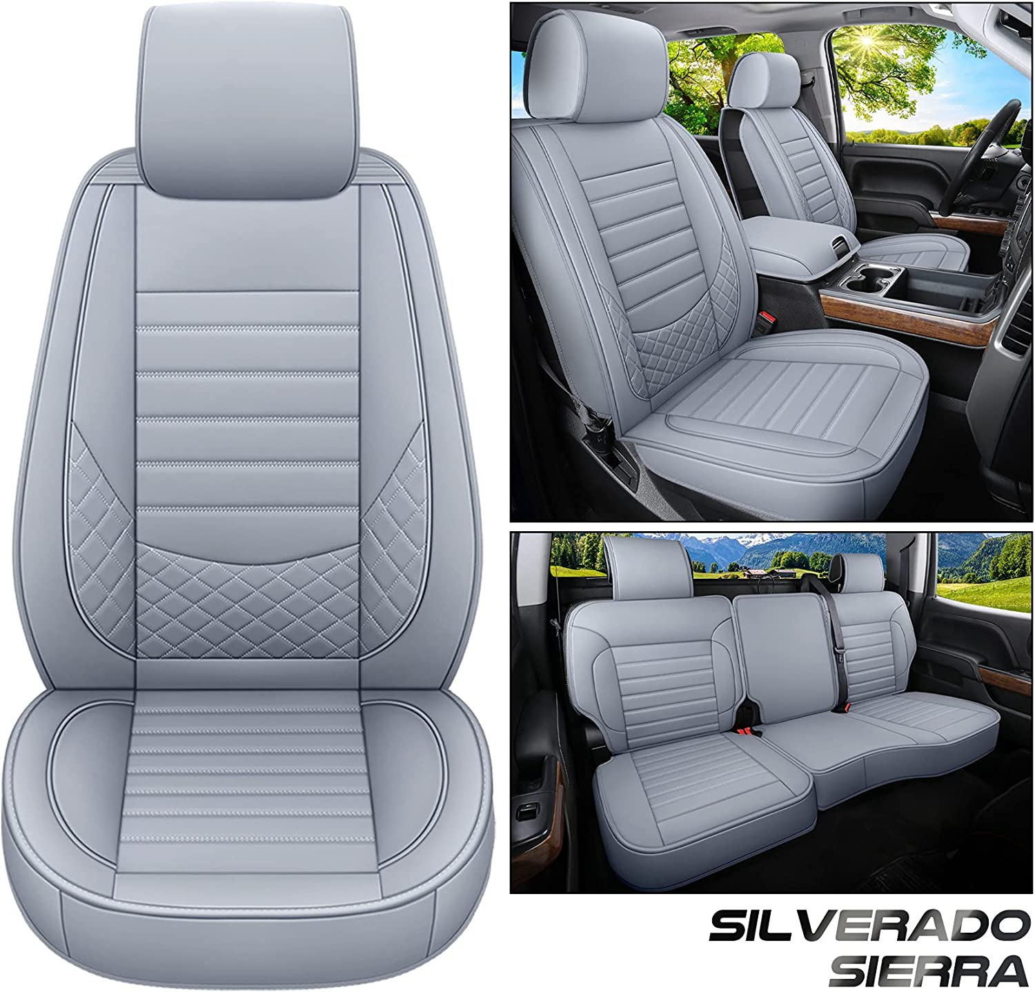 Seattle Mall kyohans Car Seat Covers Full Set Silvera for 2009-2019 NEW before selling ☆ Chevy Fit