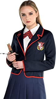 amscan Preppy Schoolgirl Halloween Costume Kit for Adults, One Size, Includes Blazer and Tie, Multicolor, 8406258