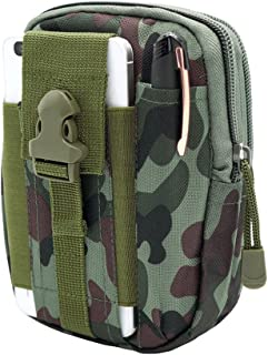 Leather&Arts Universal Outdoor Waist Bag Military Nylon Utility Tactical Waist Pack Camping Hiking Pouch