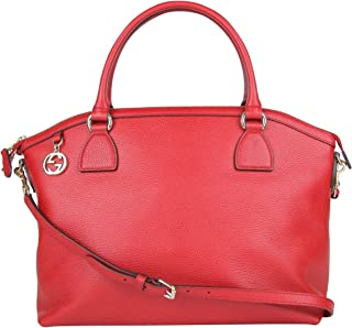 b05f9c8b4e8 Gucci GG Charm Red Leather Large Convertible Dome Bag With Detachabel Strap  449660 6420