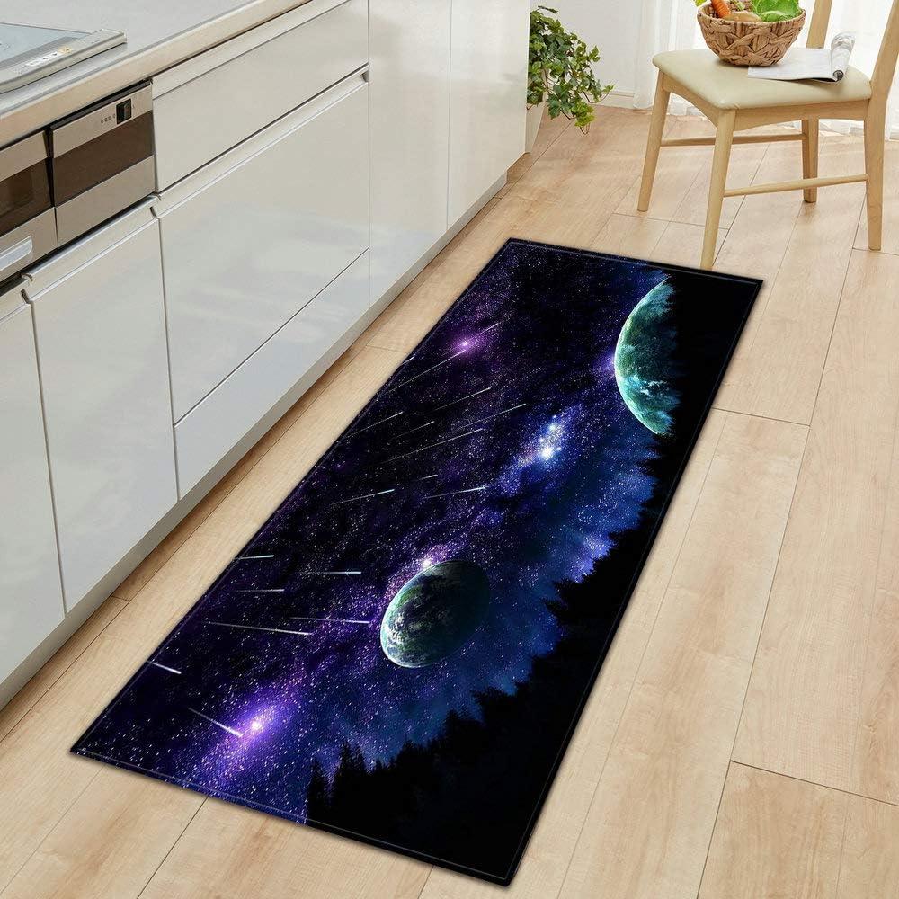 OPLJ 3D Daily bargain sale Starry Sky Branded goods Carpet Entrance Door Bedroom Mat Corr Kitchen