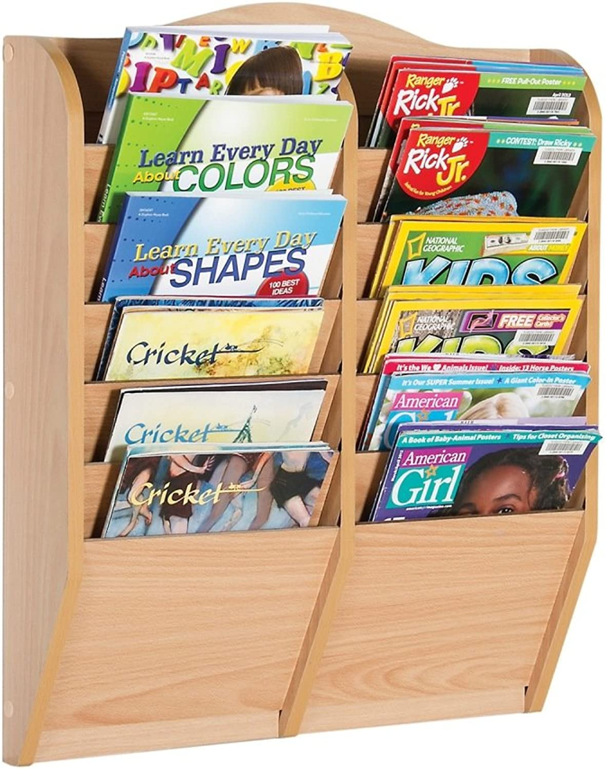 Guidecraft Magazine Rack with 12 Section