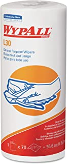 Wypall L30 DRC Wipers (05843), Strong and Soft Wipes, White, 24 Rolls/Case, 70 Sheets/Small Roll, 1,680 Wipes/Case