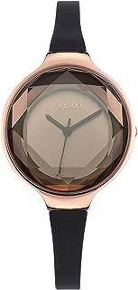 RumbaTime Women's 15628 Orchard Gem Mini Rose Gold 30mm Black Diamond Watch