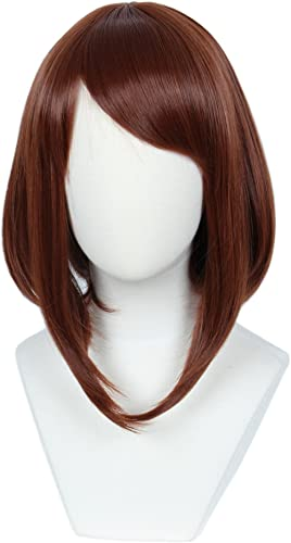 Linfairy Womens Red Brown Wig Halloween Costume Cosplay Wig