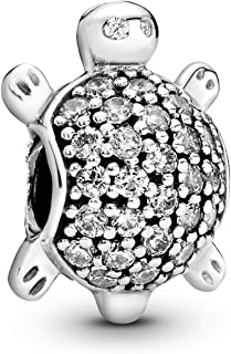 Pandora Women's Polished Silver Sea Turtle Charm - 791538CZ