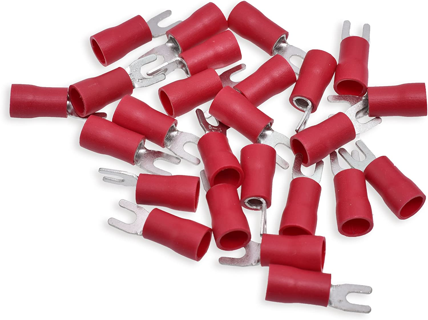 Conext Link STV88-25 Vinyl Spade Terminal Omaha Mall Pack Stud OFFicial mail order 25 Red #8