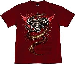 [GENJU] Tシャツ スカル ドクロ 骸骨 十字架 ロック系 バイカー アメカジ 裏もデザインあり メンズ