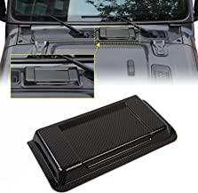 JeCar JL Vent Cover Air Vent Hood Vent Scoop Cover Black Cowl Hood Scoop Cover for Jeep Wrangler JL JLU JT 2018 2019 Carbon Fiber