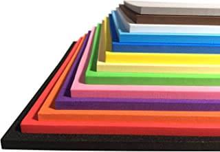 Extra Thick Craft Foam Sheets - EVA Material - 13 Colors 9.6 9.6 Inches - 3mm/5mm/7mm Thickness