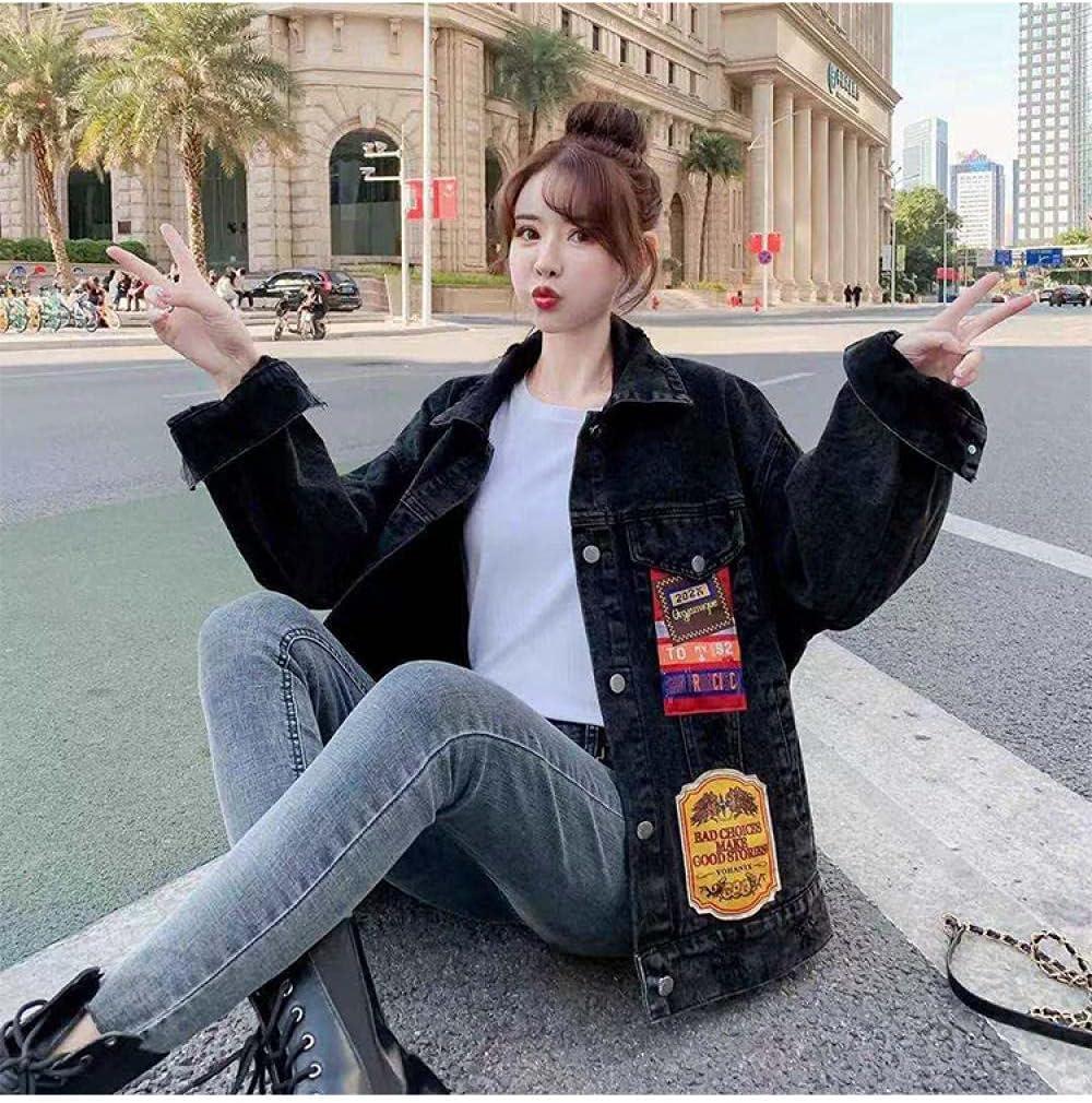 Spring and Autumn Women's Denim Jacket Women's Embroidered Loose Korean Wild Jacket Retro Cardigan Girl Clothing