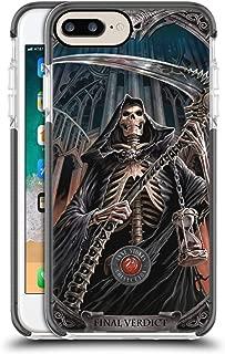 Official Anne Stokes Final Verdict Tribal Black Shockproof Gel Bumper Case for iPhone 7 Plus/iPhone 8 Plus
