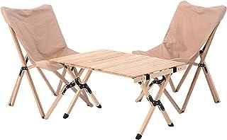 アウトドアテーブル アウトドアイス 木製 折りたたみ おしゃれ アウトドア テーブルセット 折りたたみ テーブル チェア コンパクト キャンプ イス 椅子3点set