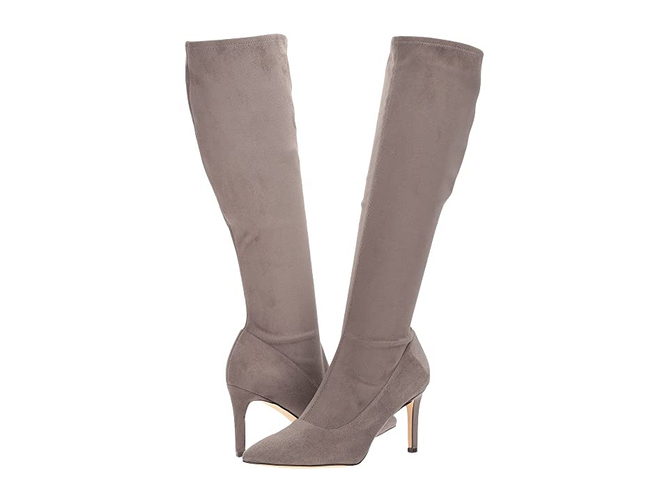 Nine West Carerra Tall Dress Boot (Grey Suede) Women