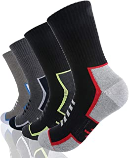 Athletic Socks Sports Socks Cotton 6 Pairs Cushion Socks Sweat-Absorbent Size 7.5-9