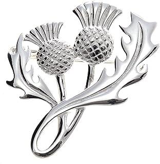 Broche de plata de ley broche con forma de Cardos