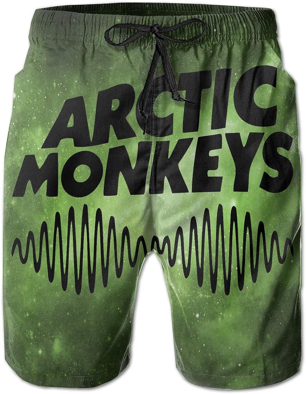 7ab8036cd9 Mens Mens Mens Slim Fit Arctic-Monkeys-Black-Logo Quick Dry Short Swim  Trunks 51b611