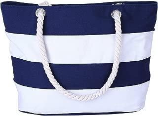 Cotton Canvas Tote Beach Bag With Zipper Top Handle Handbag Shoulder Bags Shopping Bag from Nevenka