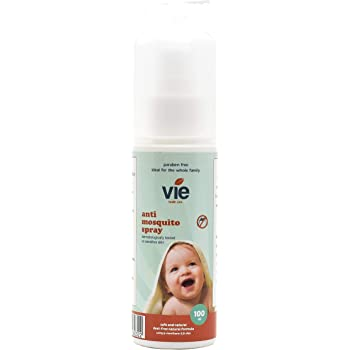 Vie Anti Mosquito Deet Free Spray – All-Natural, Safe, and Effective Anti-Mosquito Spray for Babies and The Whole Family – Chemical Free Formulation 100ml Bottle
